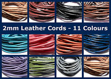 5 Metres 2mm Thick Round Original Cowhide Genuine Leather Cord Stringing BULK