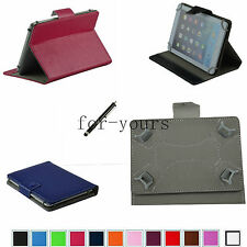 """Colorful Folio Claw Grip Stand Case+Pen For 7"""" Azpen A701/Zenithink C71A Tablet"""