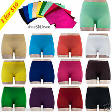3 FOR $10 New Women Seamless Spandex Leggings Basic Solid Yoga Athletic Shorts