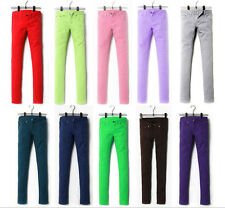 SU Womens Sexy Solid Stretch Candy Color Slim Fit Skinny Pant Trousers F5035