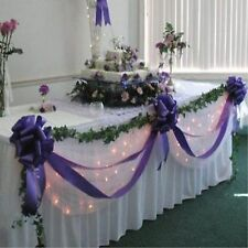 Wedding Top Table Decoration Kit  - Bows & Swags - All Colours Personalised