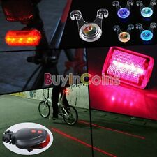 New 5 LED Red Laser  Bicycle Bike Rear Tail Light Taillight Seat Hanging Lamp