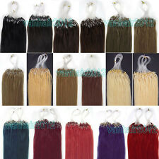 """New16""""18""""20""""22""""24""""26""""Loops Micro Rings Tips Remy Human Hair Extensions Straight"""