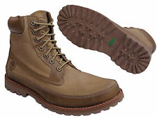 Timberland 6 Inch Mens Leather Canvas Tan Lace Up Boots Casual (96572 D108)