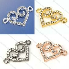 Clasps Heart Metal Beads Connector Alloy Fit Necklace Bracelets DIY Jewelry Hot