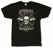 """AVENGED SEVENFOLD """"SINCE 1999"""" BLACK SLIM FIT T-SHIRT NEW OFFICIAL ADULT A7X"""