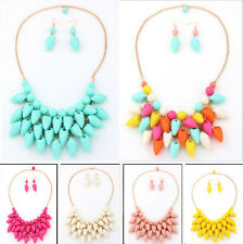 Wholesale NEW A Set Fashion Jewelry Multilayer Hot pepper Bib Necklace Earring