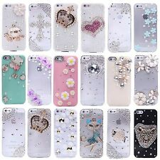 NEW HANDMADE 3D CRYSTAL DIAMOND CASE BLING DIAMANTE HARD COVER FOR IPHONE 5 5S