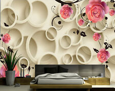 3D Large Brown Circle Wall Paper Wall Print Decal Wall Deco wall Mural Home Kids