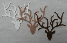 FELT Christmas Reindeer STAG Head Die Cuts Decorations Bunting Appliques VARIOUS