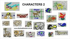 CD machine embroidery jef hus pes +more CHARACTERS 2