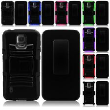 For Samsung Galaxy S5 Active Cell Phone Case Hybrid Hard Cover Belt Clip Holster