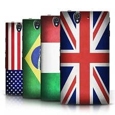 STUFF4 Phone Case/Back Cover for Sony Xperia Z /Flags