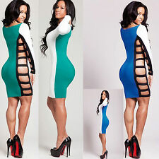 Women Sexy Patchwork Lingerie Side Hollow Party Bandage Dress Intimate Clubwear