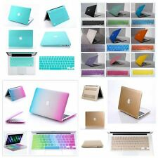 "2in1 Set/14 Color Rubberized Hard Case Cover For New Macbook Air 13""/11"" Cut-OUT"