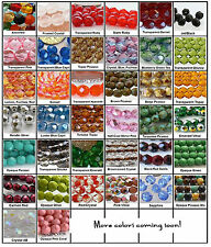 6mm Fire Polished Czech Glass Beads 25 Choose Color