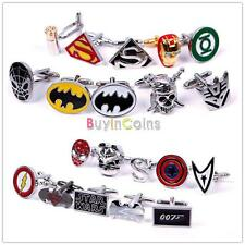 Mens Shirt Cuff-link Rectange Wedding Party Square DC Marvel CuffLinks HFCA