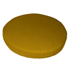 aa199r Mustard Yellow Cotton Canvas 3D Round Shape Seat Cushion Cover Custom Siz