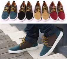 fashion Men's Stylish Casual Flat Shoes LACE UP Frosted Sneakers loafer shoes Y2