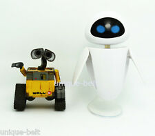 New Lot 2 pcs Wall-E Eve Pixar Action figure Toys Robot Mini Figures Set