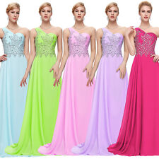 One Shoulder Sexy Formal Long Chiffon Evening Prom Bridesmaid Dresses Gown Dress