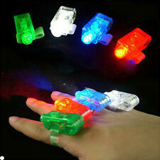 Hot 10/20/40/80/100pcs Bright LED Laser Finger Light Rave Party Glow Beams Torch