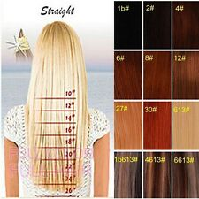 Any colors&size Premium Full Head Clip in 100% REMY Human Hair Extensions