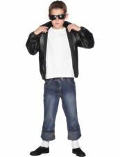 Boys Child Official Grease T-Bird Jacket Fancy Dress Costume Outfit