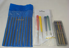 10 ECONOMY NEEDLE FILES SET or 3 DIAMOND COATED FILE or 4 REAMERS FILING TOOLS