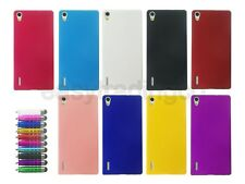 Hard Back Cover Case for Huawei Ascend P7 + Screen Protector + Stylus Pen