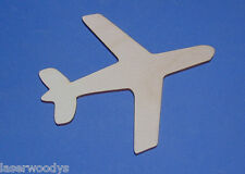 Airplane Unfinished Flat Wood Shape Cut Out Variety Szs A938 Laser Crafts