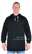 Big Mens Black Big Tee Shirt Pullover Hoodie Size XL to 8XL