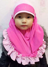 YY17 Kids Girls Muslim Islamic Hijab Free Shipping Hot For 6-10 Years