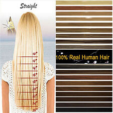 """Full Head 15""""18""""20""""22""""24""""26""""28"""" Clip Remy Real Human Hair Extensions US STOCK"""