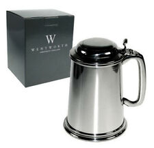 Personalised Wentworth Lidded Pint Pewter Tankard Engraved Gift