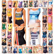 One-Piece Backless Galaxy Digital Print Bikini Swimwear Swimsuit Costumes New