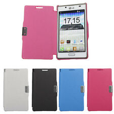 Magnetic Flip PU Leather Hard Full Pouch Case Cover For LG Optimus L7 P700 P705