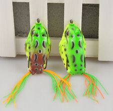 1pc Cute Large Frog Topwater Fishing Lure Crankbait Hooks Bass Bait Tackle u87