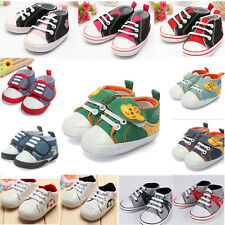 Kids Baby Girl Boy Infant Antislip Soft Sole Crib Shoes Sneakers 0-18 M