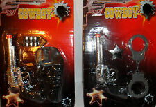 Cowboy Click Gun Toy Play Set Wild West Fancy Dress Western Holster Sheriff NEW