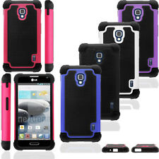 Heavy Duty Hybrid Silicone Armor Hard Impact Case Cover for LG Optimus F6 D500