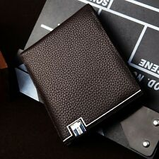 New Luxury High Quality Mens Faux Leather Bifold Wallet Credit Card Holder Gift