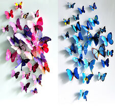 Delicate 3D Simulation Butterfly Making Wall Sticker Home Room Decoration 12Pcs