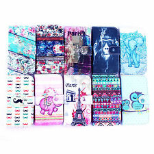 1×Printed Blossom Style Flip Leather Wallet Case Magnet Cover For Various Phones
