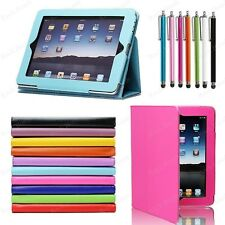 """For Apple Regular iPad 1 1st Gen 9.7"""" Magnetic PU Leather Case Cover +Stylus Pen"""
