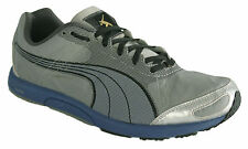 Puma Faas 200 Grey Mens Womens Boys Girls  Lace Up Running Shoes (185679 01 D9)