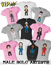 VIPwees Ladies Tshirt Male Solo Artists Music Inspired Caricatures Choose Design