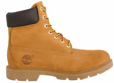 Timberland 6 Inch Basic Mens Boys Wheat Leather Lace Up Boots (18094 D65)