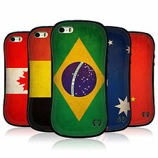 HEAD CASE VINTAGE FLAGS SET 1 HYBRID TPU BACK COVER FOR APPLE iPHONE 5S