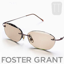 NEW FOSTER GRANT RIMLESS SUN READERS TINTED READING GLASSES +2.5 +3.0